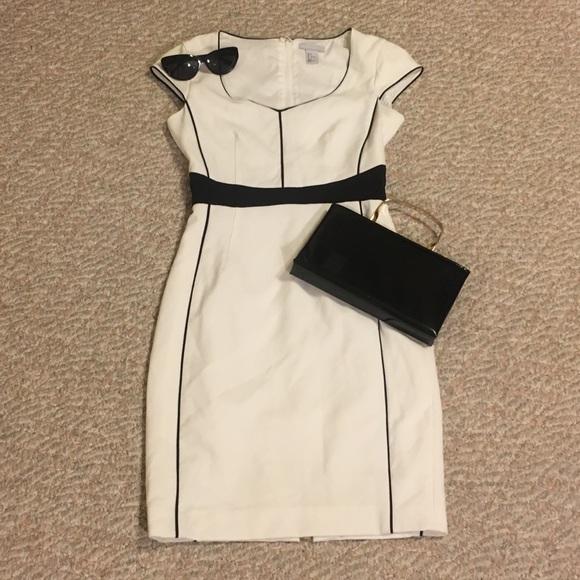 Dresses & Skirts - White and black pencil dress